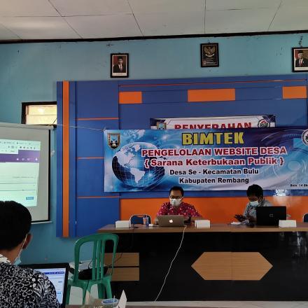 BIMTEK PENGELOLAAN WEBSITE DESA (Sarana Keterbukaan Publik) Desa Se Kecamatan Bulu